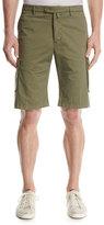 Kiton Menswear Twill Cargo Shorts, Olive