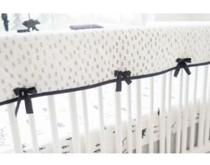 My Baby Sam Little Black Bear Crib Rail Cover Bedding