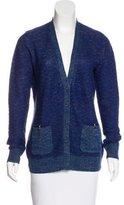 Proenza Schouler Linen & Wool-Blend Knit Cardigan