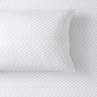 Pottery Barn Teen Performance Microfiber Dash Pillowcases, Set of 2, White/Steel