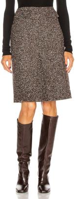 Victoria Beckham Mini Box Pleat Skirt in Black & Brown   FWRD