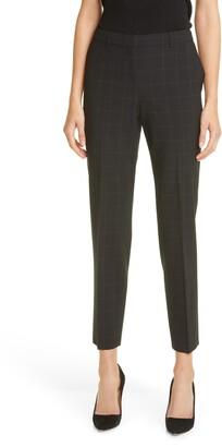 HUGO BOSS Tiluna Plaid Wool Blend Suit Pants