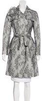 Carolina Herrera Corded Lace Trench Coat