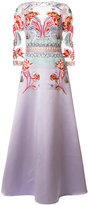 Temperley London Porcelain flared gown