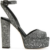 Giuseppe Zanotti Design Betty glitter platform sandals - women - Leather - 35