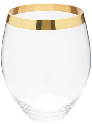 AERIN Gabriel Large Gold-rimmed Vase - Clear