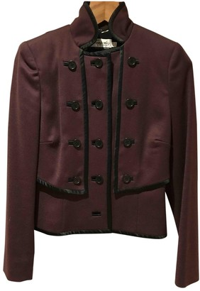 Temperley London Burgundy Wool Jacket for Women