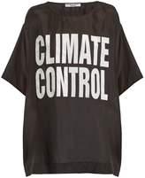 Katharine Hamnett Climate Control print silk T-shirt