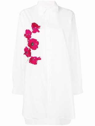 Y's Floral Embroidered Shirt