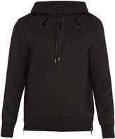 Neil Barrett Lightning-bolt embroidery neoprene sweatshirt
