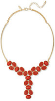 New York & Co. Cabochon-Accent Goldtone Y Necklace