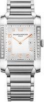 Baume & Mercier Women's Swiss Hampton Diamond (3/8 ct. t.w.) Stainless Steel Bracelet Watch 27x40mm M0A10023
