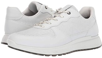 Ecco ST1 Perforated Sneaker (White) Men's Shoes