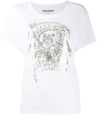 Zadig & Voltaire Zadig&Voltaire foil-print T-shirt