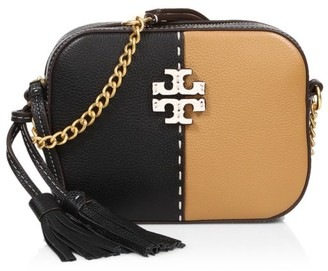 Tory Burch McGraw Bi-Color Leather Camera Bag