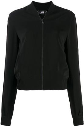 Karl Lagerfeld Paris Snap Sleeve Bomber Jacket