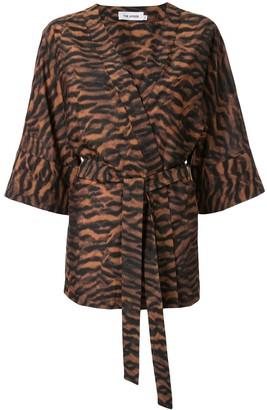 The Upside Evie tiger-print kimono