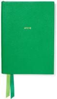 Smythson Soho Fashion 2018 Textured-leather Diary - Green