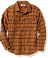 Old Navy Geometric-Print Double-Pocket Shirt for Boys