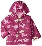 Hatley Fairy Tale Horses Raincoat (Baby) - Pink - 12-18 Months