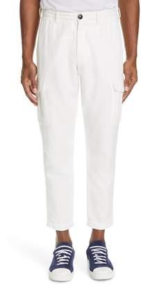 Eleventy Cotton & Linen Cargo Dress Pants