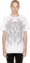 Balmain White Oversized Tiger T-shirt
