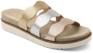 Kensie Dison Metallic Triple Strap Slide Sandal