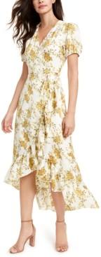 LEYDEN Floral-Print Wrap Midi Dress