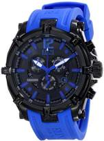 Elini Barokas Men's ELINI-10179-BB-01-BLSA Fortitudo Analog Display Swiss Quartz Blue Watch