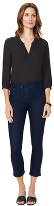 NYDJ Sheri Slim Ankle Jeans with Back Snap Plac kets