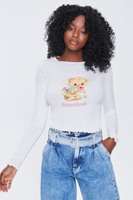 Forever 21 Spoiled Graphic Top
