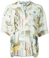 CLANE printed short sleeve shirt - women - Polyester - 1