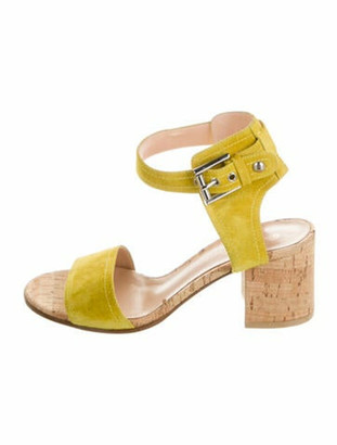 Gianvito Rossi Suede Sandals Yellow