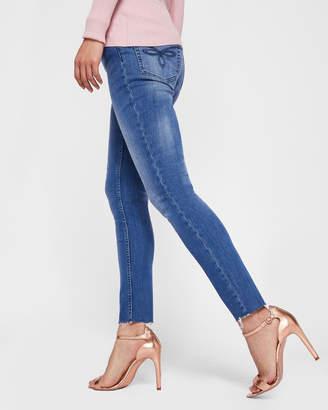 Ted Baker AACIEE Mid wash raw hem skinny jeans