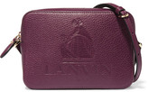 Lanvin So Embossed Textured-leather Shoulder Bag - Grape