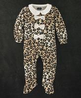 Mud Pie Brown Leopard Footie - Infant