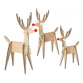 Meri Meri Reindeer Decorations - Set of 3
