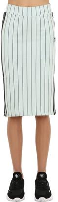 adidas Striped Cotton Jersey Skirt