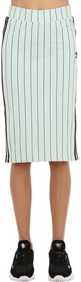 adidas Striped Cotton Jersey Skirt
