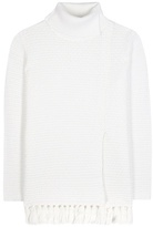 Proenza Schouler Frayed Wool And Cotton-blend Turtleneck Sweater
