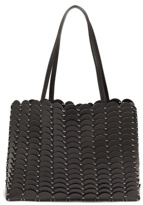 Paco Rabanne Pacoio Leather-chainmail Tote Bag - Black