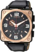 Invicta Men's 'Corduba' Quartz Stainless Steel and Leather Casual Watch, Color: (Model: 23556)