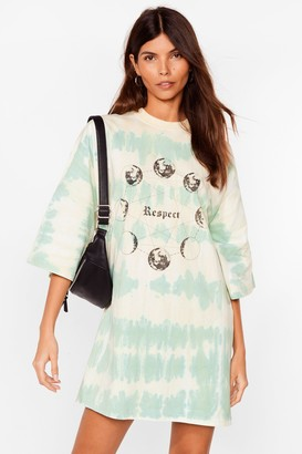 Nasty Gal Womens A Lil Respect Tie Dye Tee Dress - Green