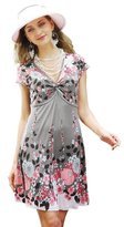 Chanceful Women's Cute Floral Print Spring Summer Cocktail Party Casual Dress