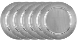 Old Dutch Set Of 6 Brushed Nickel Charger Plates Plates