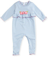 Florence Eiseman Striped Flower & Ruffle Coverall, Size 3-18 Months