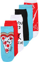 Betsey Johnson Women's Pizza Women's No Show Socks - 6 Pack