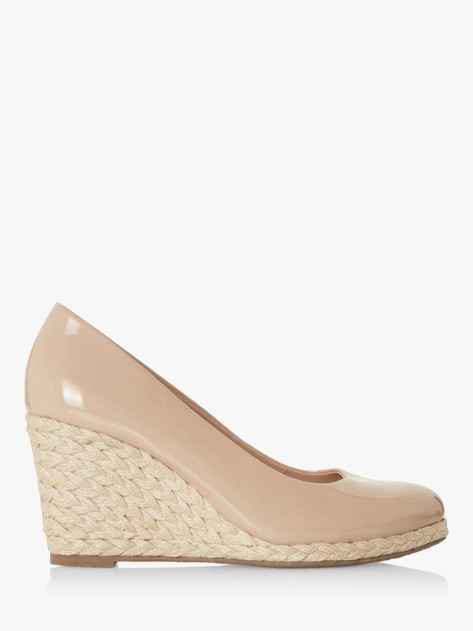 Dune Nude Wedges | Shop the world's