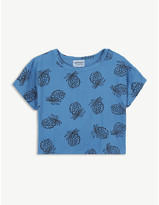 Bobo Choses Pineapple print cropped cotton T-shirt 4-11 years