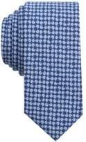 Bar III Men's Diamond Flower Mini Print Skinny Tie, Created for Macy's